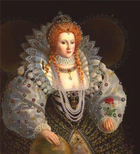 Королева Елизавета в чокере