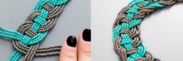 Косичка из бисерных нитей