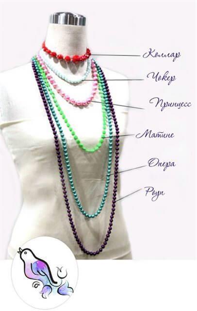 Разные виды украшений на шею