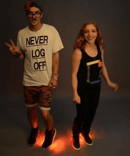Как сделать светящиеся кроссовки своими руками: Firewalker LED Sneakers от Learn.Adafruit
