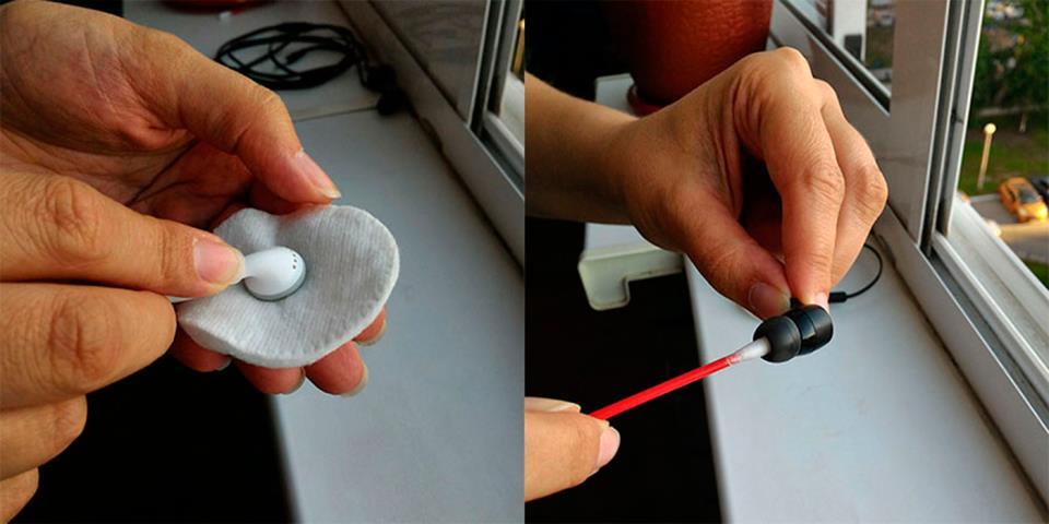 Способ чистки наушников
