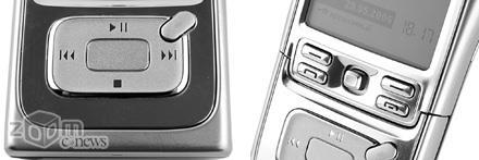 Управление воспроизведением в происходит при помощи кнопок на сдвигающейся крышке и пятипозиционного джойстика