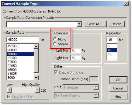 Convert Sample Type