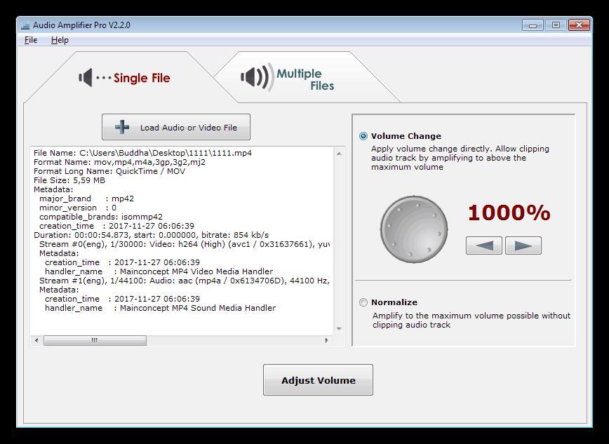 Программа для усиления звука на компьютере Audio Amplifier