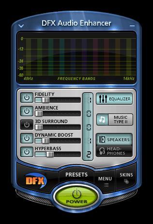 Программа для усиления звука на компьютере DFX Audio Enhancer