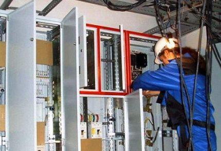 Поиск обрыва провода специалистом