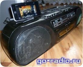 Кассетная магнитола Satellite и iPod Touch