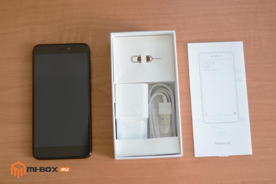 Обзор смартфона Xiaomi Redmi 4x - комплектация