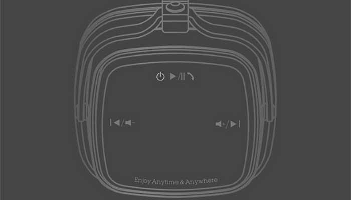 Расположение кнопок на наушниках Remax RB-200HB