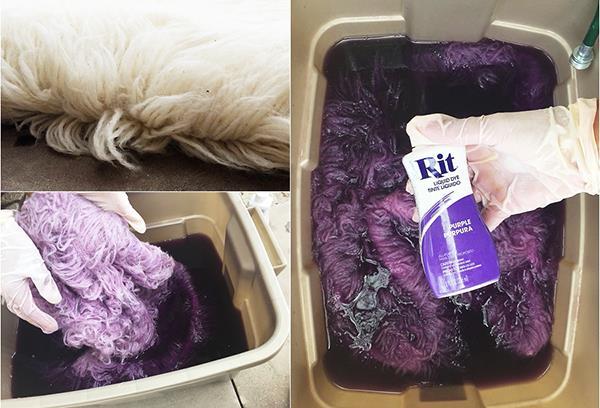 Окрашивание меха краской для ткани