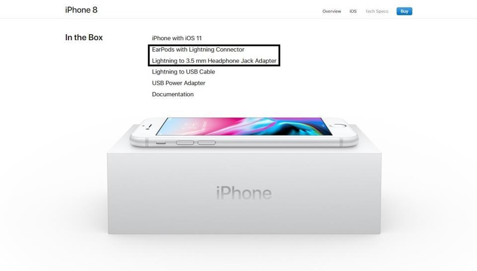 Какие наушники у iPhone 8