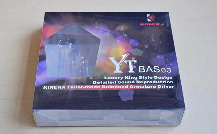 Обзор наушников Kinera YT-BAS03 коробка