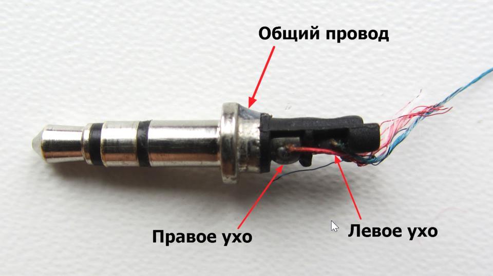 Распиновка штекера мини-джек (3 провода)