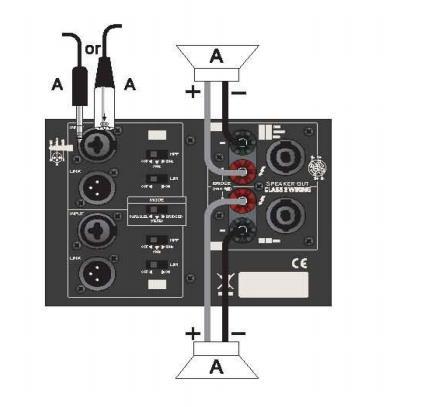 Схема подключения АС (режим Parallel):