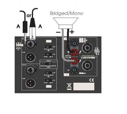 Схема подключения АС (режим Bridge):