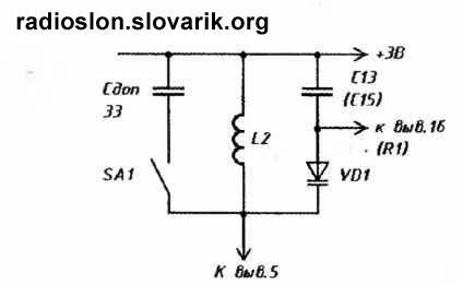 Схема введения диапазона УКВ 64...74 МГц