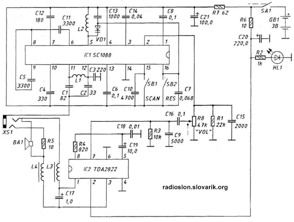 Две схемы миниатюрных FM-приемников PALITO