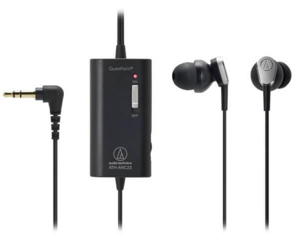 внутриканальные наушники с активным шумоподавлением audio-technica-ATH-ANC23