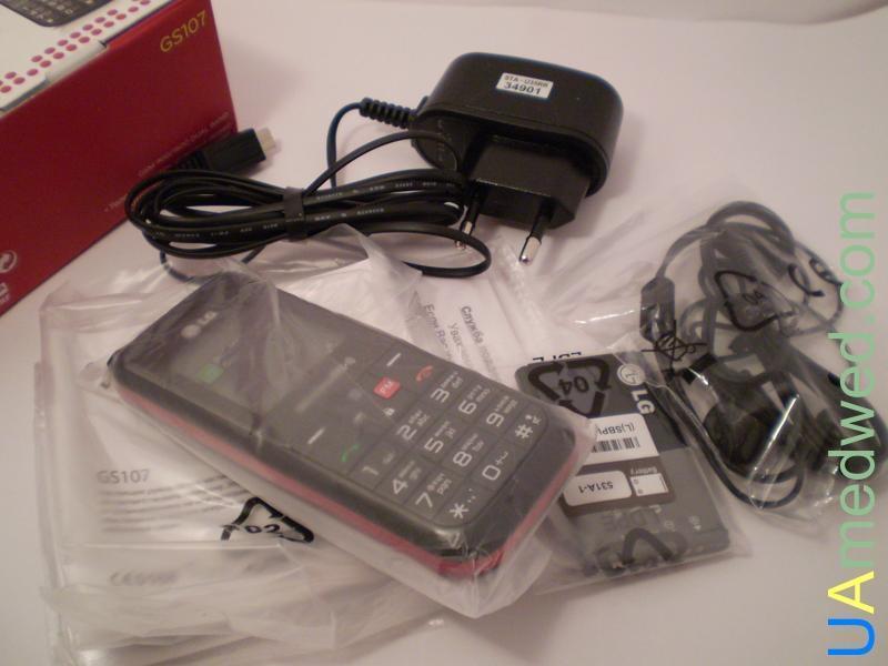 Обзор мобильного телефона LG GS 107 Red