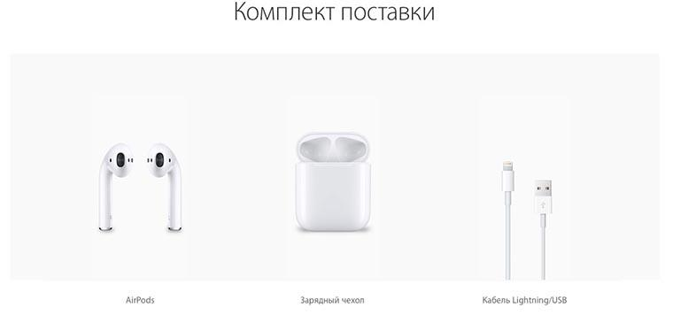 Apple AirPods.Комплект Поставки