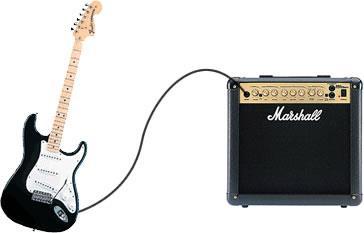 Подключение электрогитары к гитарному комбику