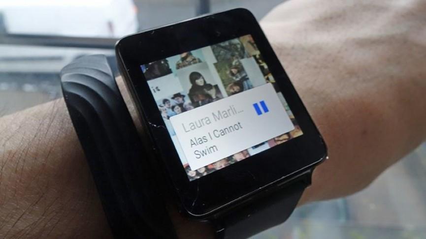 Виджет с активным треком в Android Wear