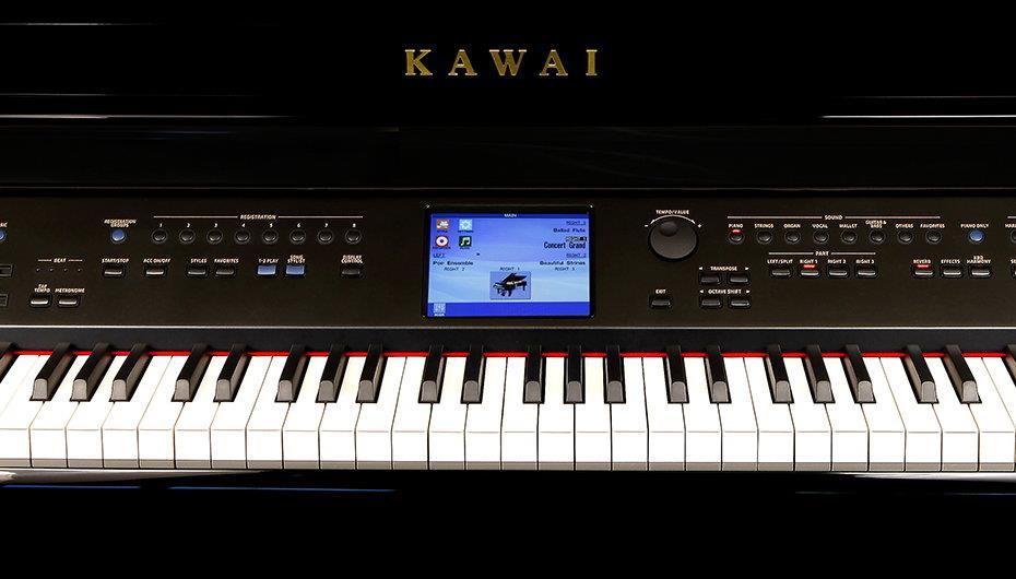 Органы управления пианино Kawai серии CP