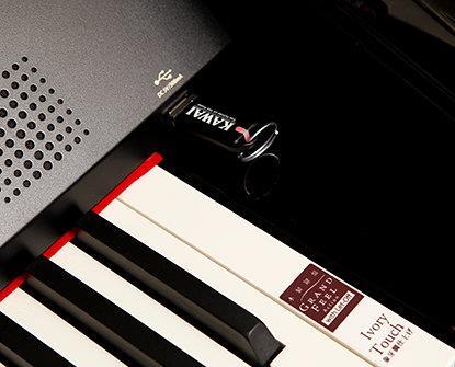 USB-порт в цифровом пианино Kawai