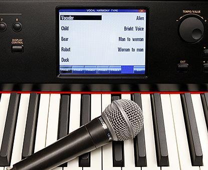 Цифровое пианино Kawai с микрофоном
