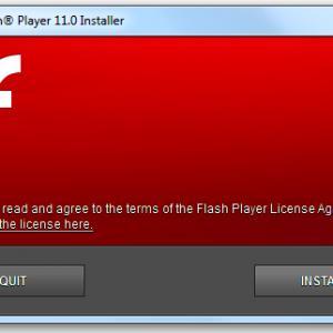 установка AdobeFlash Player