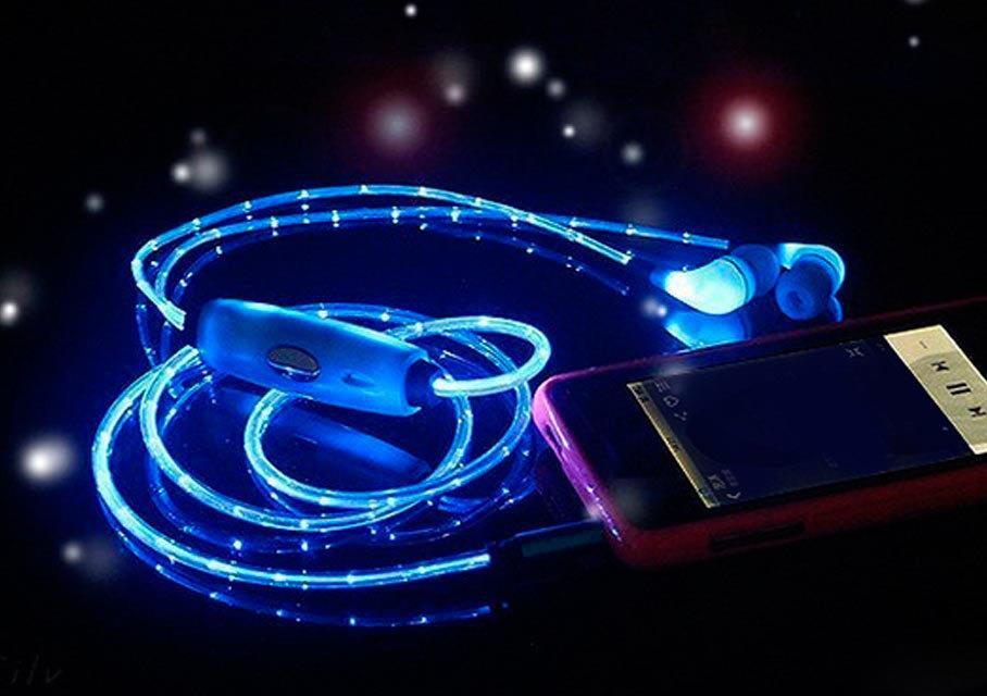 светящиеся наушники glow подделка