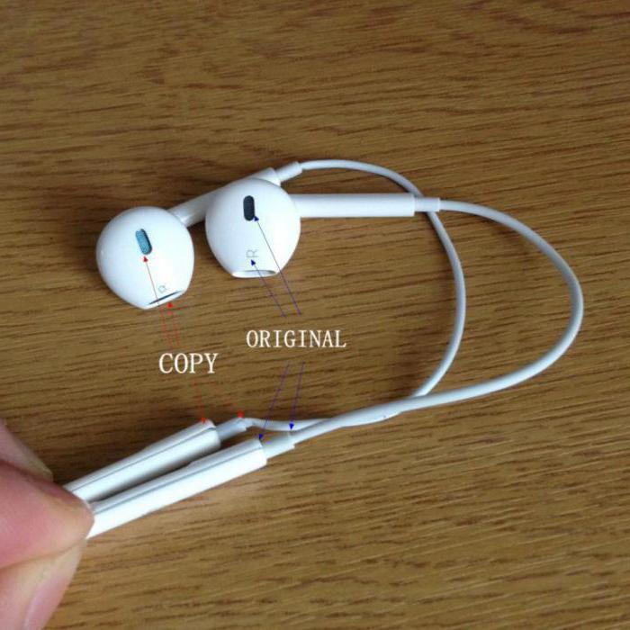 earpods как отличить оригинал от подделки инструкция