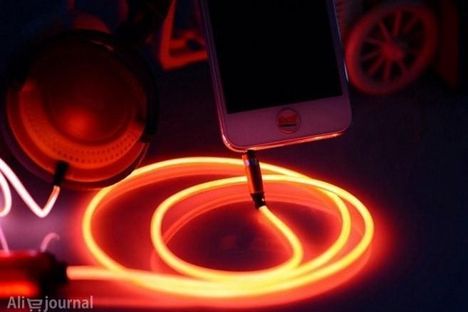 светодиодные LED наушники с подсветкой