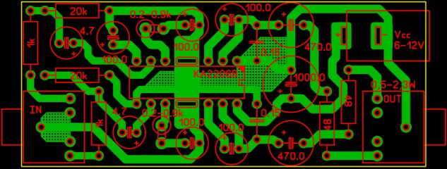 Усилители для наушников на микросхеме печатная плата