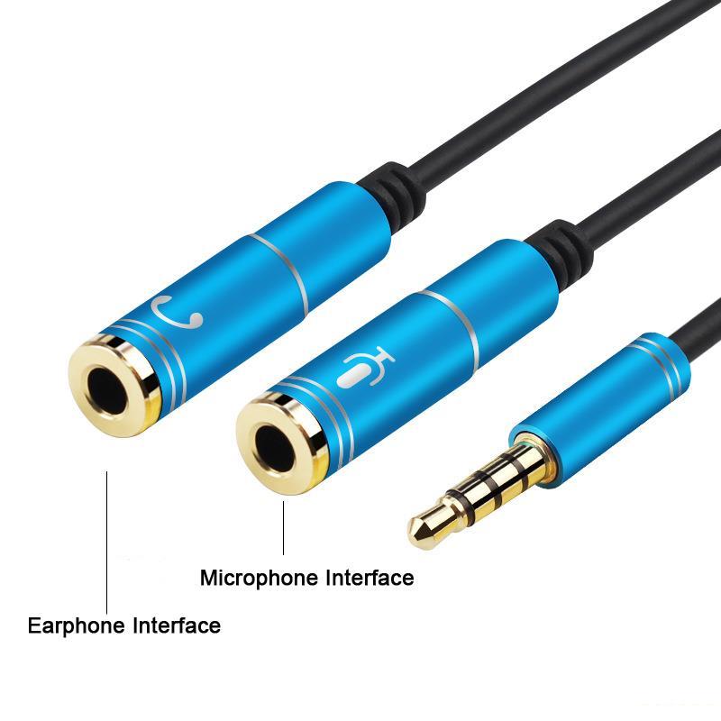 Кабель делитель для отдельного подключения микрофона и наушников