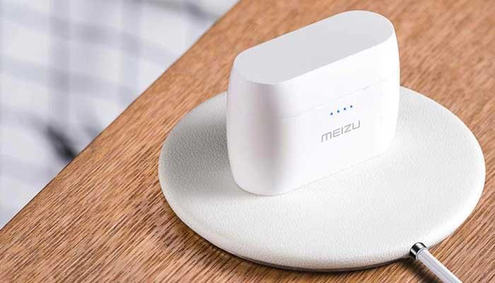 Meizu TW50 с боксом для переноски с поддержкой беспроводной зарядки