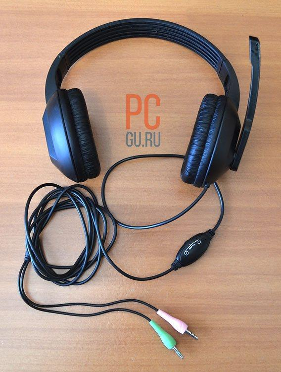 Обычные наушники с микрофоном для компьютера или ноутбука