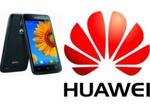 Логотип HUAWEI с 2 смартфонами